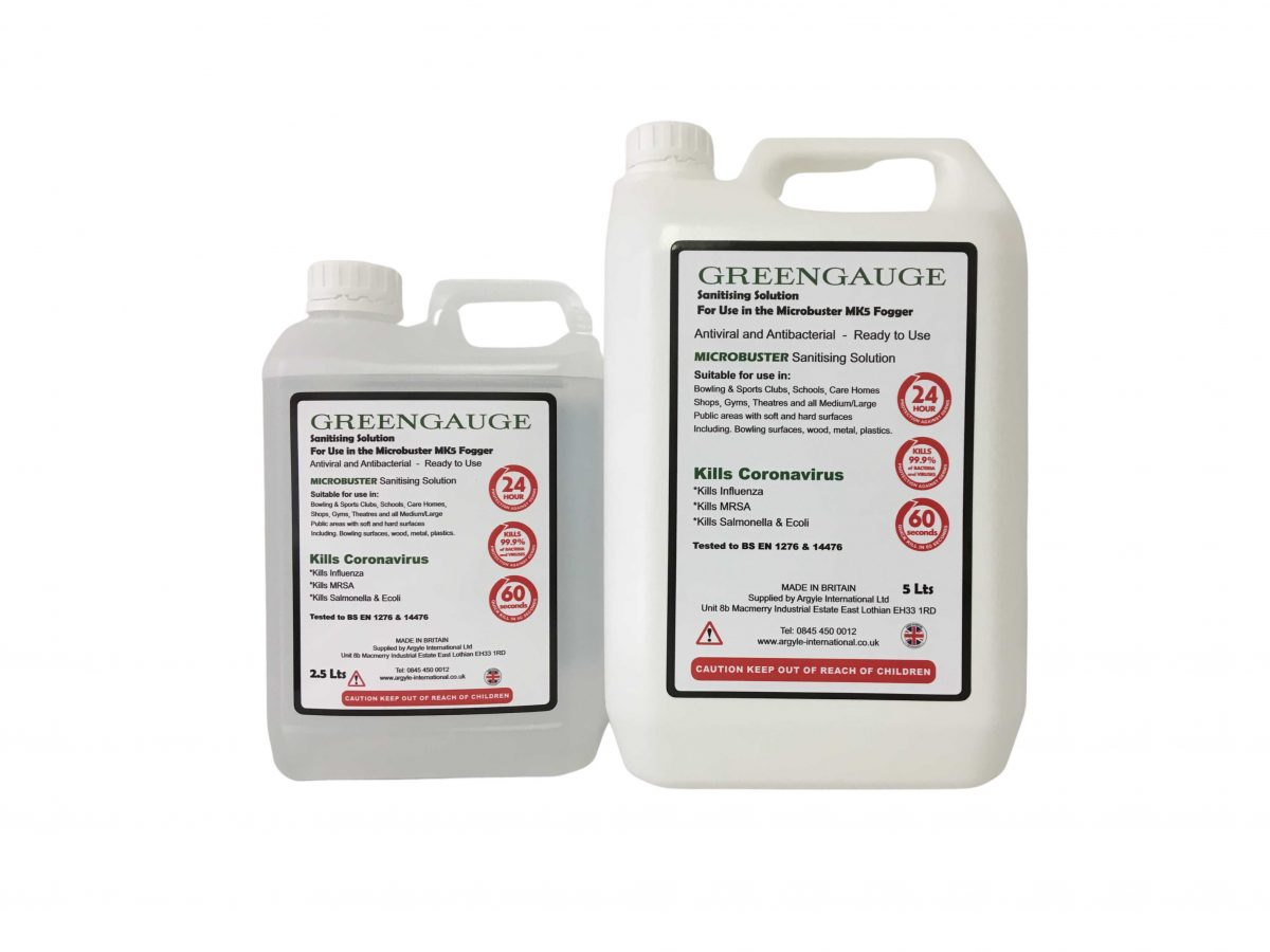 Greengauge MICROBUSTER Sanitising Solution 5L