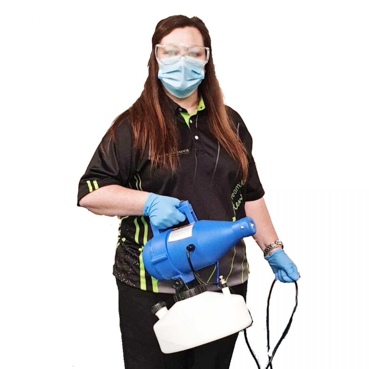 A lady using the MICROBUSTER Mk5 Fogger